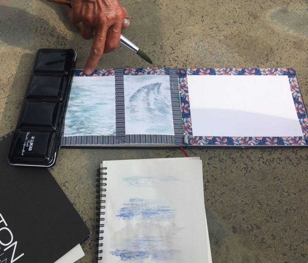 Wasseroberfläche malen