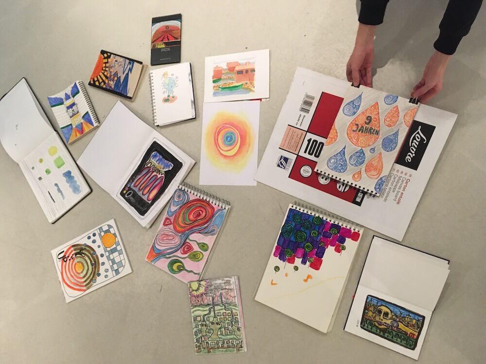Hundertwasser-Ausstellung-Fabrik-der-Künste-Malen-und-Zeichnen_0