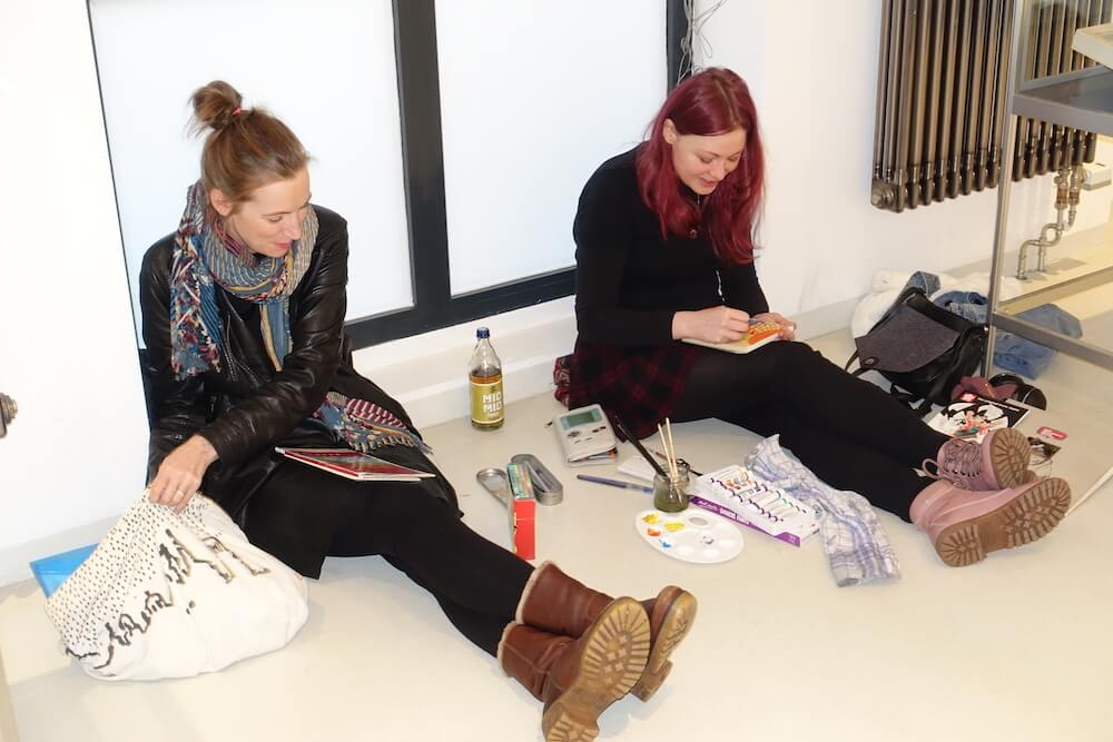 Hundertwasser-Ausstellung-Fabrik-der-Künste-Malen-und-Zeichnen_3