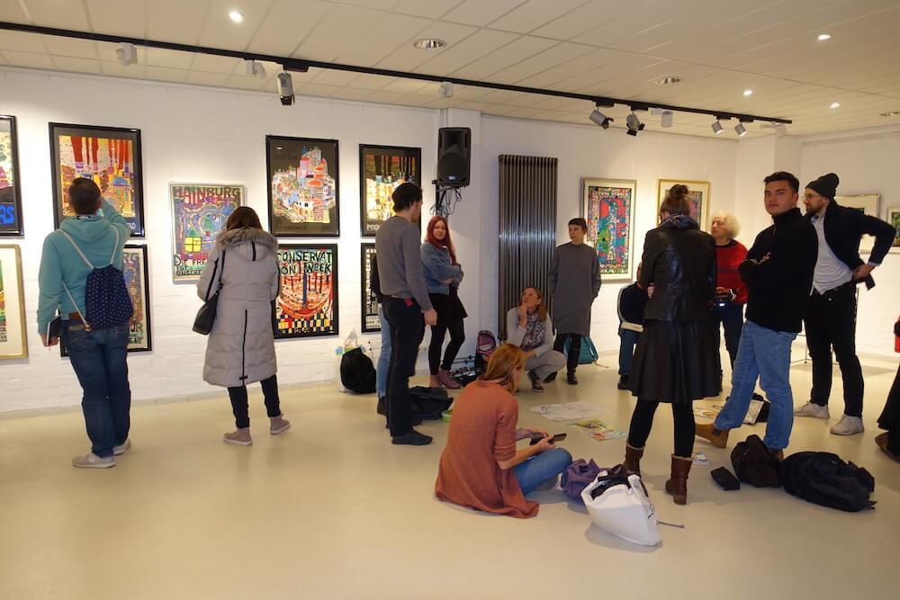 Hundertwasser-Ausstellung-Fabrik-der-Künste-Malen-und-Zeichnen_7