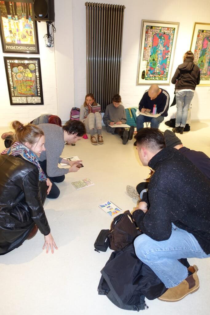 Hundertwasser-Ausstellung-Fabrik-der-Künste-Malen-und-Zeichnen_6