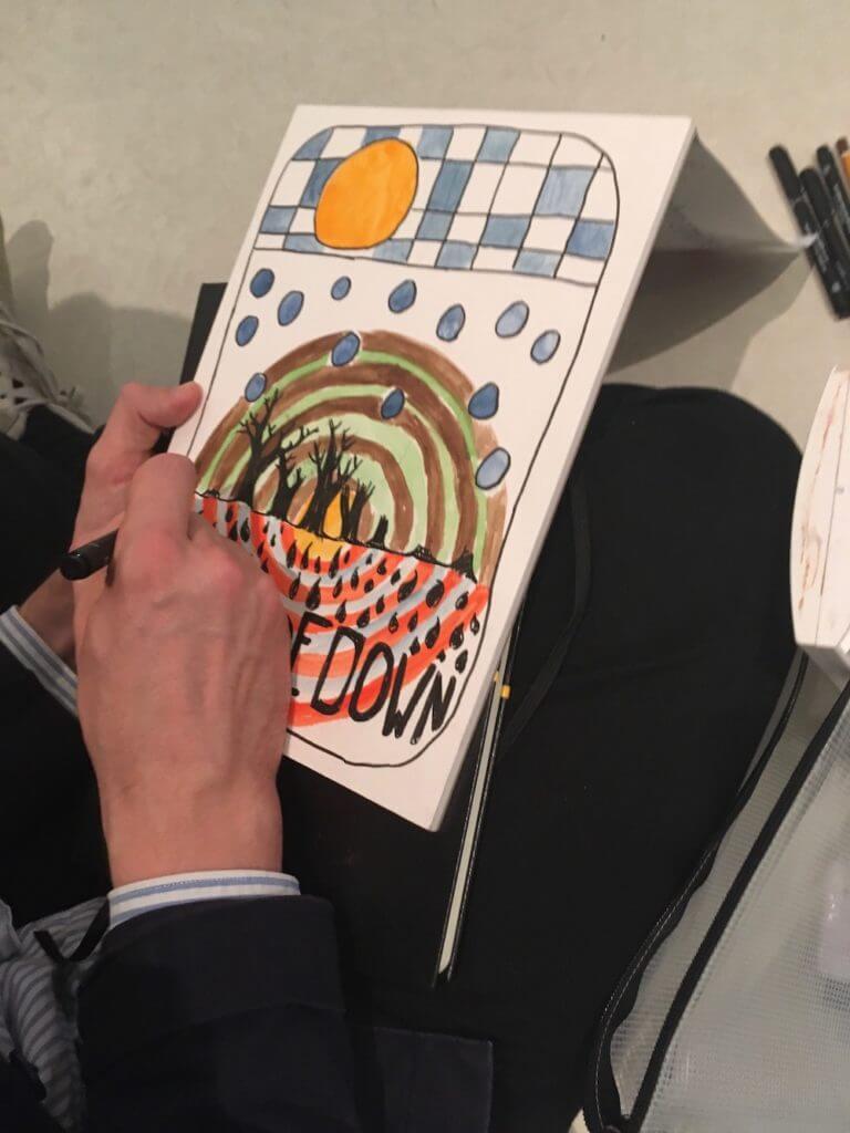 Hundertwasser-Ausstellung-Fabrik-der-Künste-Malen-und-Zeichnen_9