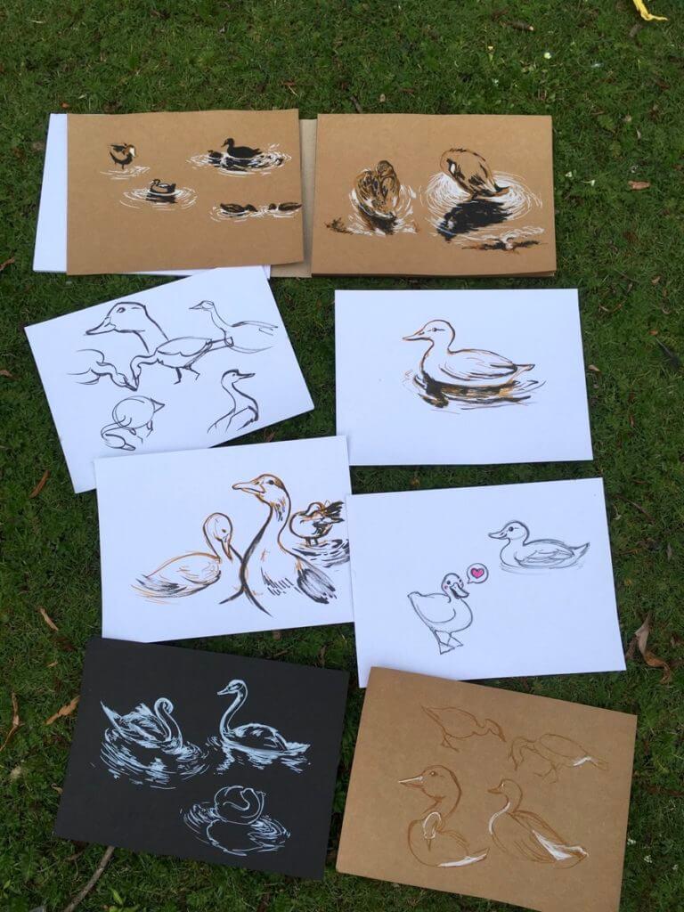 Entenvögel-zeichnen-im-Eichenpark-Hamburg-2020-12